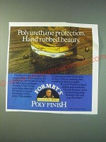 1988 Formby's Hand Rubbed Poly Finish Ad - Polyurethane protection