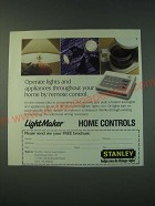 1988 Stanley LightMaker Home Controls Ad - Operate lights and appliances