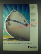 1989 Japan Air Lines Ad - This year, international travelers will discover