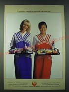1989 Japan Air Lines Ad - A journey should be enjoyed not endured