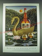 1989 Grand Marnier Liqueur Ad - Arrive in Grand Style