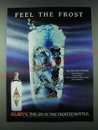 1989 Gilbey's Gin Ad - Feel the frost - The Frosted Topper