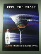 1989 Gilbey's Gin Ad - Feel the frost - Martini