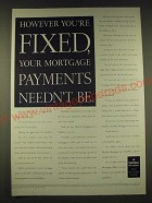 1989 NatWest Mortgages Ad - However you're fixed