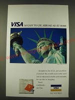 1989 VISA Card Ad - VISA as easy to use abroad as at home