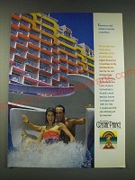 1989 Carnival's Crystal Palace Cruise Ad - There's never a dull moment