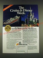 1989 Premier Cruise Lines Ad - The Cruise & Disney Week