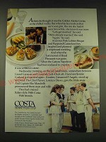 1989 Costa Cruise Ad - At first she thought it was the Golden Alaska Caviar