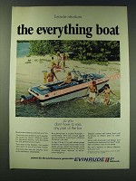 1970 Evinrude Dolphin Boat Ad - Evinrude introduces the everything boat