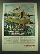 1970 Johnson Sea-Horse 115 and 85 Outboard Motors Ad - Go V-4 for the boldest