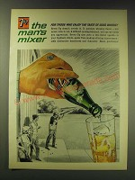 1964 7up Soda Ad - 7up the man's mixer