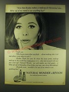 1964 Revlon Makeup Ad - Now that Revlon makes a makeup for blemished skin