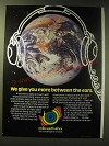 1989 Radio South Africa Ad - We give you more between the ears