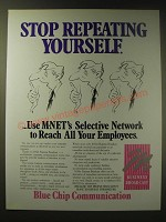1989 M-Net Business Broadcast Ad - Stop repeating yourself