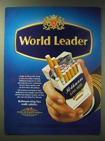 1989 Rothmans King Size Cigarettes Ad - World Leader