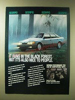 1989 Scorpio Car Rental Ad - It runs in the black forest