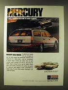 1989 Mercury Sable Wagon Ad - Mercury A well-rounded solution to sharp corners