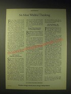 1989 U.S. Council For Energy Awareness Ad - No more wishful thinking