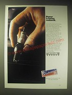 1989 Mr. Goodwrench AC Spark Plugs Ad - Power is being restored