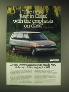 1989 Mazda MPV Minivan Ad - The new best in class, with the emphasis on class