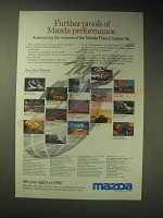 1989 Mazda Motor Corporation Ad - Further proofs of Mazda performance