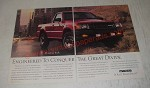 1989 Mazda B2600i Pickup Truck Ad - Engineered to conquer the great divide