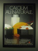 1989 National Dairy Board Ad - Calcium au naturale