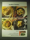 1989 Stouffer's Entrees and Side Dishes Ad - Stouffer's Timeless