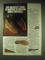 1989 Wolverine BoarHide Boots Ad - The greatest thing to happen to pigskin