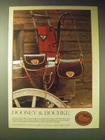 1989 Dooney & Bourke All-Weather Leather Handbags Ad