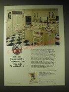1989 Rutt French Quarters Kitchen Cabinets Ad - For those unaccustomed