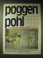 1989 Poggenpohl Cabinetry Ad - Poggenpohl the ultimate in Kitchen and Bath