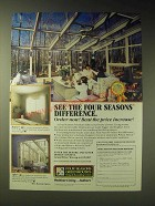 1989 Four Seasons Greenhouses Ad - See the Four seasons difference