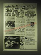 1989 Foley-Belsaw Institute Ad - Get in on the profits in small engine service