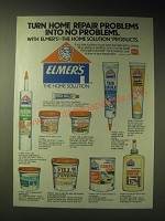 1989 Elmer's Home Solution Products Ad - Turn home repair problems