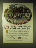 1989 Martin Senour Williamsburg Paint Ad - To buy a more authentic paint