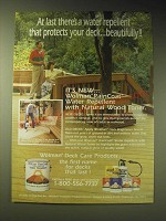 1989 Wolman Deck Care Products Ad - At last