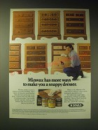 1989 Minwax Stains Ad - Minwax has more ways to make you a snappy dresser