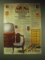 1989 Formby's Ad - Furniture Refinisher, Poly Finish and Paint remover