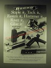 1989 Arrow Ad - T-50 Staple Gun Tacker, ETN-50 electro-Matic Staple gun