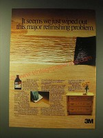 1989 3M Scotch-gard Wipe On Poly Finish Ad - we just wiped out this problem