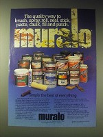 1989 Muralo Paints Ad - The quality way to brush, spray, roll, seal, stick