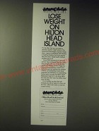 1989 Hilton Head Health Institute Ad - Lose Weight on Hilton Head Island
