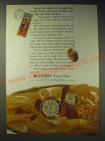 1989 Citizen Watches Ad - Before the night was through they would reveal a lot