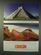 1989 Cancun Mexico Tourism Ad - We'll show you two different approaches to sun