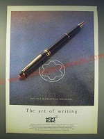 1989 Montblanc Meisterstuck Rollerball Pen Ad - in German and English