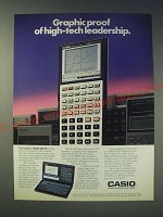 1989 Casio FX-7500G Scientific Calculator Ad - Graphic proof