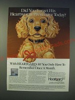 1989 Heartgard-30 Heartworm Prevention Ad - Did you forget