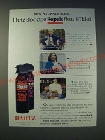 1989 Hartz Blockade Ad - These pet owners agree