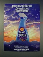 1989 Dow Brands Glass Plus Ad - Cleans faster. Cleans Better